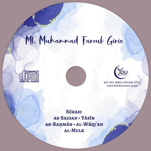 ML. M. Farouk Girie Audio CD